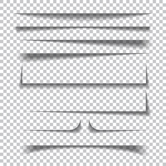 Papier schaduweffecten