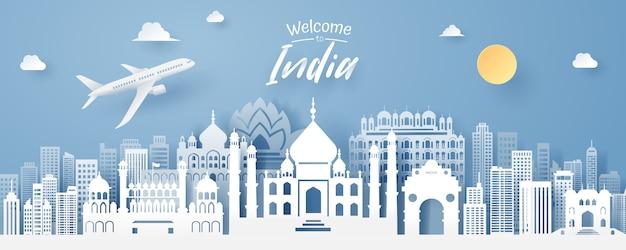 Papier snede van india landmark
