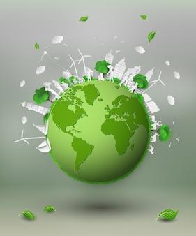 Papier snijden van eco