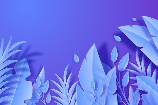 Papier stijl achtergrond met bladeren
