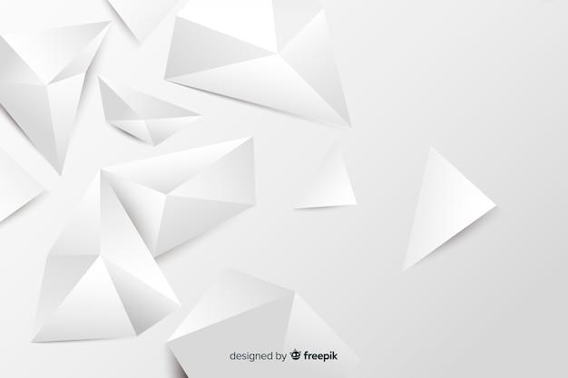 Papier stijl geometrische modellen achtergrond