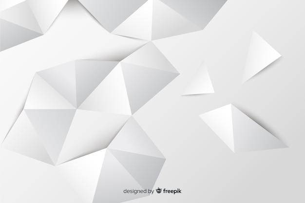 Papier stijl geometrische vormen achtergrond
