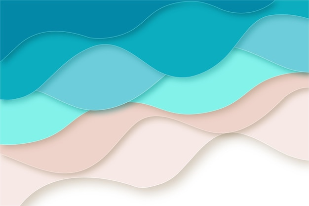 Papier stijl golven achtergrond