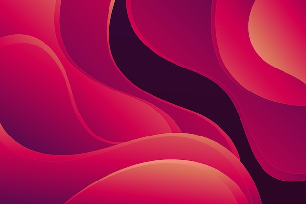 Papier stijl golvende gradiënt rode achtergrond