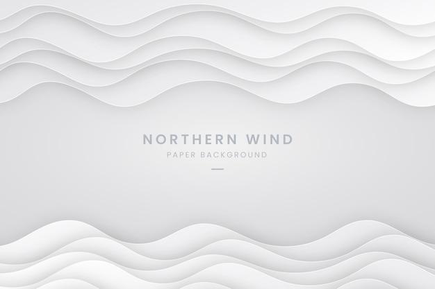 Papier stijl golvende witte achtergrond