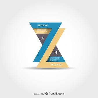 Papier stijl infografie ontwerp