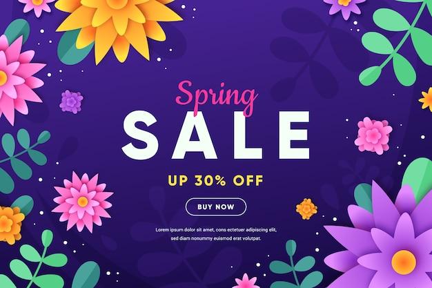 Papier stijl kleurrijke lente verkoop