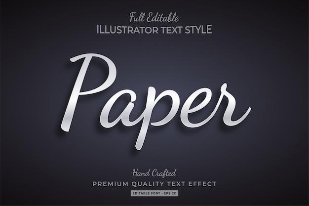 Papier tekststijl effect premium