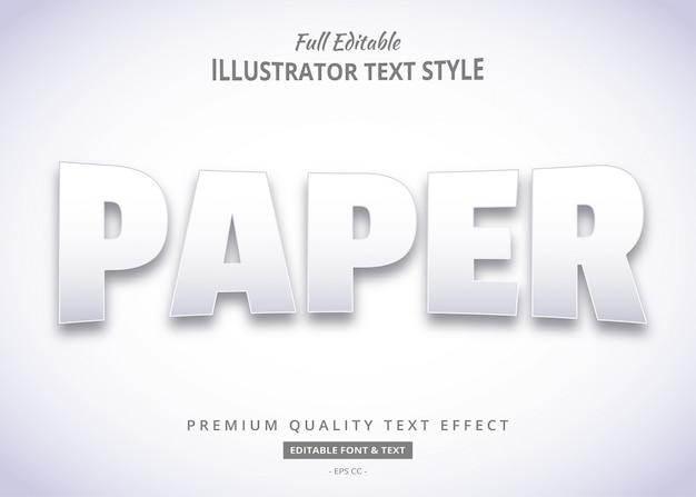 Papier tekststijl effect