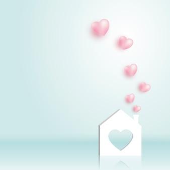 Papier thuis met hart