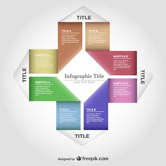 Papier vector infographic gratis te downloaden