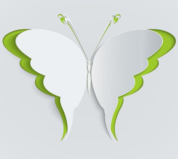 Papier vlinder illustratie