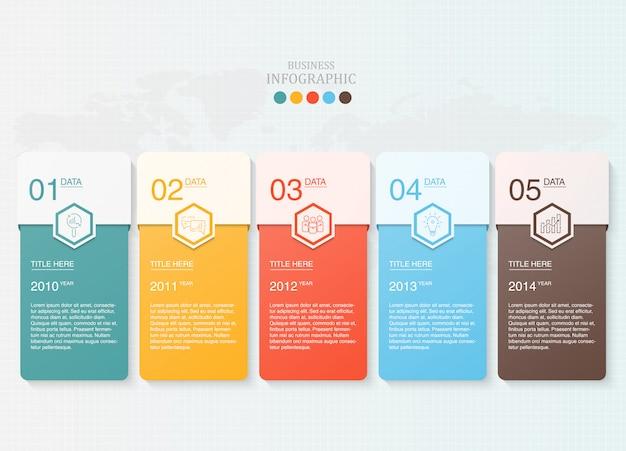 Papier voor tekst infographic voor het bedrijfsleven