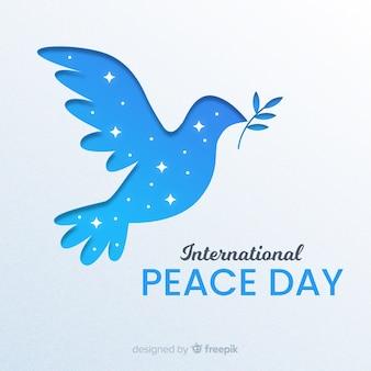 Papier vredesdag met duif