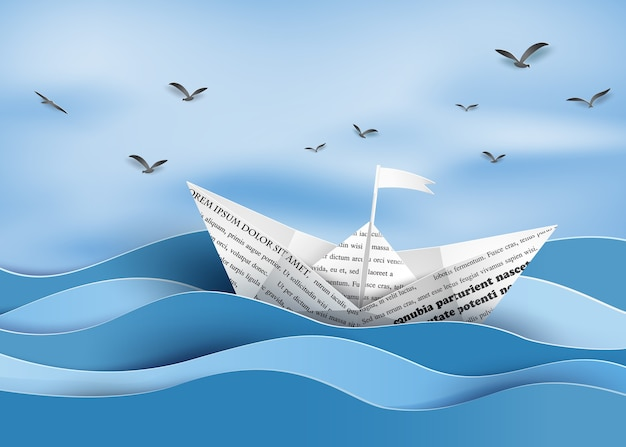 Papier zeilboot