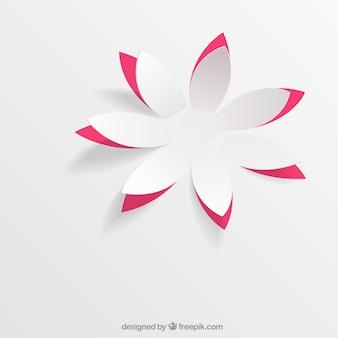 Papieren bloem in pop up stijl