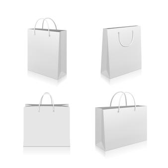 Papieren boodschappentassen collectie