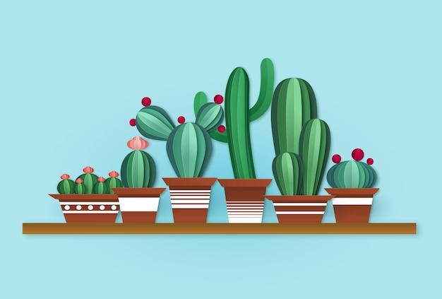 Papieren cactus