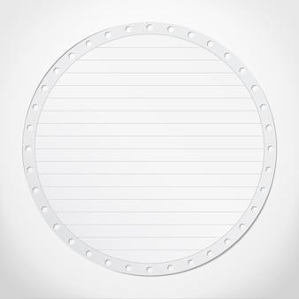 Papieren cirkel