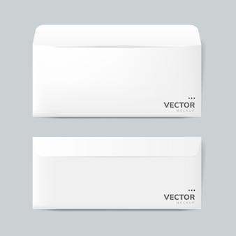 Papieren envelop ontwerp mockup vector