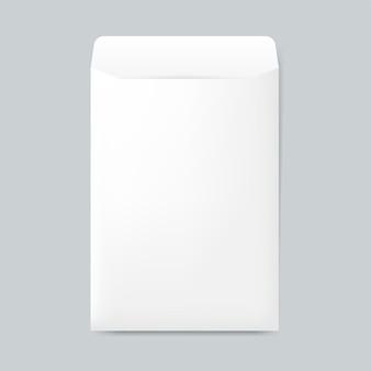 Papieren envelop ontwerp mockup