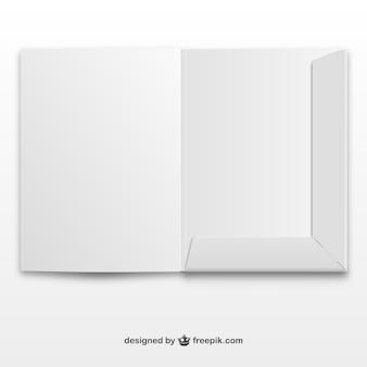 Papieren folder vector