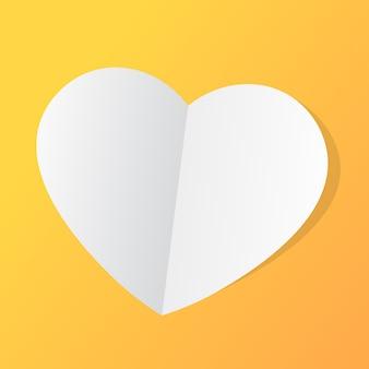 Papieren hart. liefde