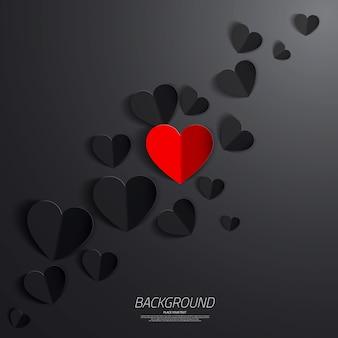 Papieren hart valentijnsdag kaart.