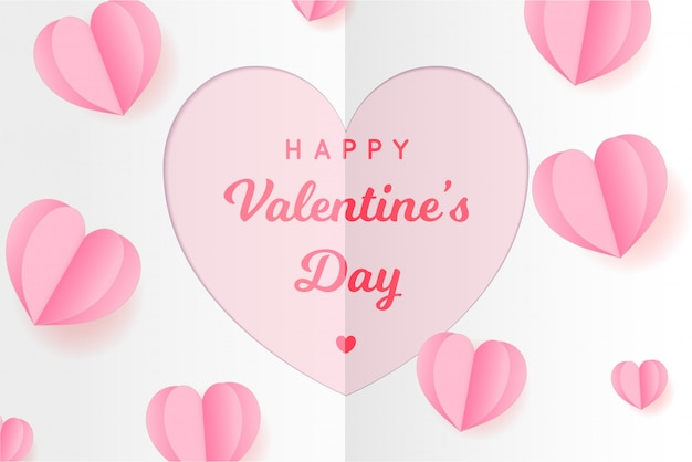 Papieren harten drijven. valentijnsdag