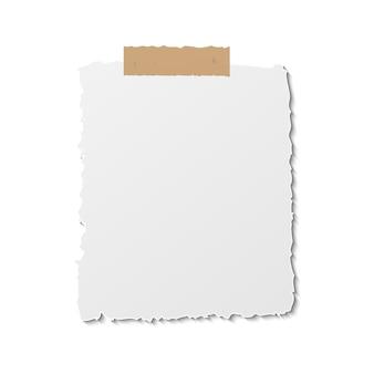 Papieren herinnering postnota. berichtbladsjabloon op plakband. plaats annotatie blanco.