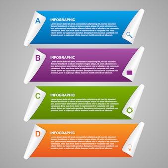 Papieren infographics ontwerpsjabloon.
