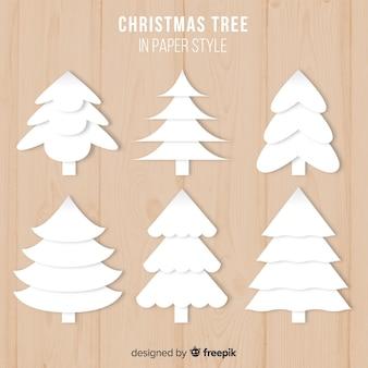 Papieren kerstboomverzameling