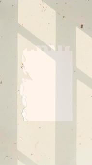 Papieren notitie achtergrondbehangvector op esthetische bladschaduw