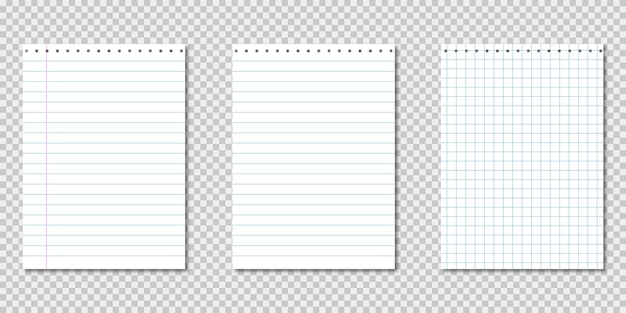 Papieren notitieboekje. realistische sjabloon met papieren notitieblok op transparant