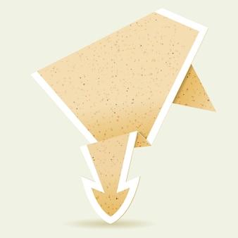 Papieren origami pijl