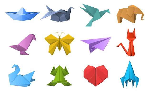 Papieren origami vormen