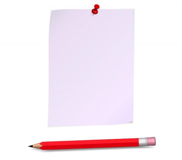 Papieren pagina