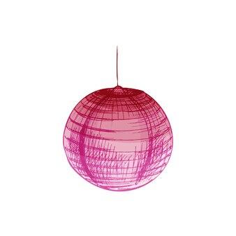 Papieren roze lantaarns. vintage vector broedeieren kleur illustratie.
