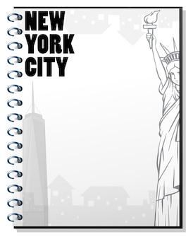 Papieren sjabloon met new york-thema