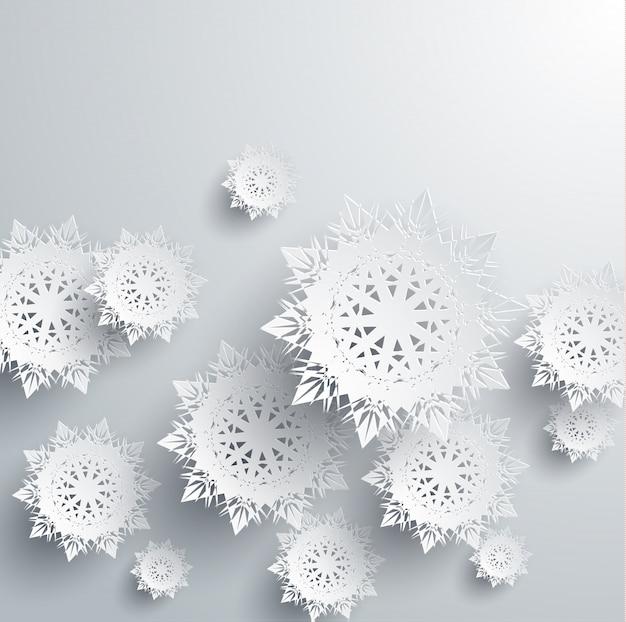 Papieren sneeuwvlokken