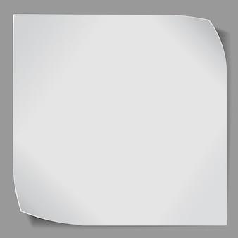 Papieren sticker over grijze achtergrond