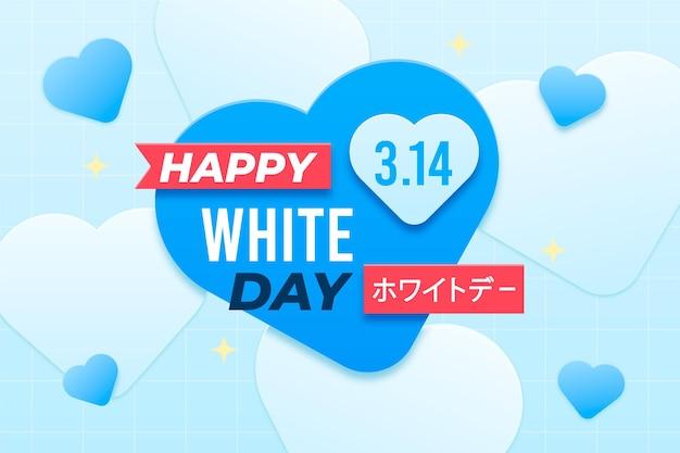 Papieren stijl gelukkige witte dag