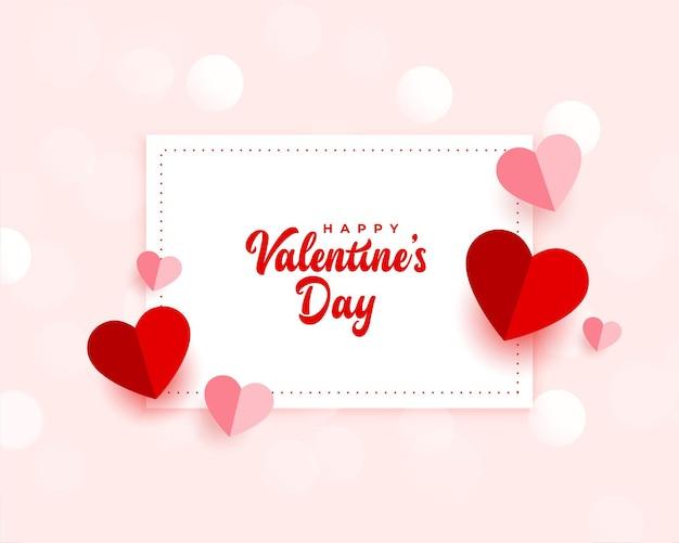 Papieren stijl valentijnsdag mooie kaart
