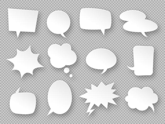 Papieren tekstballonnen