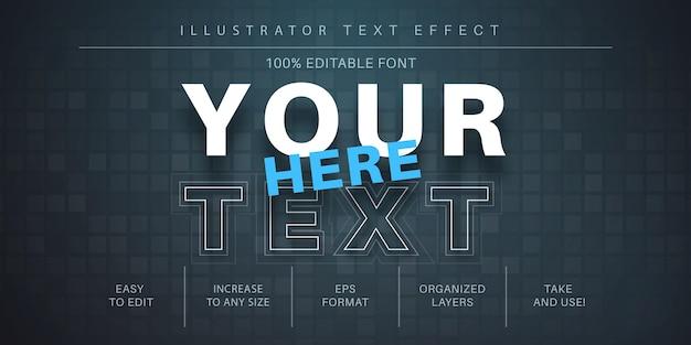 Papieren teksteffect, tekenstijl