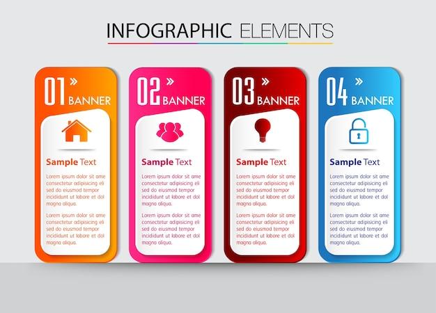 Papieren tekstvak sjabloon, banner infographic