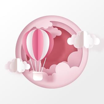 Papieren vaartuig van grote heteluchtballon