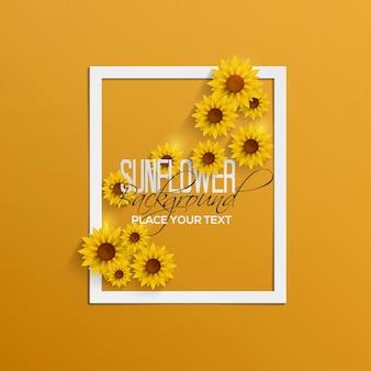 Papieren zonnebloemen