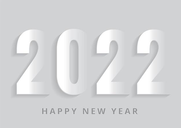 Papierkunst gelukkig nieuw jaar 2021 op witte vectorillustratie als achtergrond