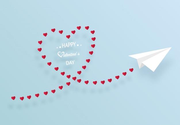 Papierkunst van origami witboek vliegtuig vliegt op de hemel